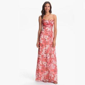 Amsale Amore Print Silk Chiffon Bridesmaids Dress